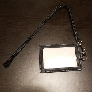 Never used coach small wallet with lanyard